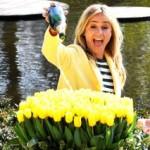 Wendy van Dijk doopt eigen tulp